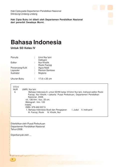 Bahasa Kita Bahasa Indonesia Untuk Sd Kelas 5 Semeter 1 kelas iv sd bahasa indonesia umri nuraini