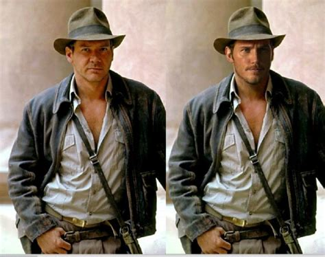 Harrison Buffs Up For Indy by Could Disney Team Up Chris Pratt And Harrison Ford For