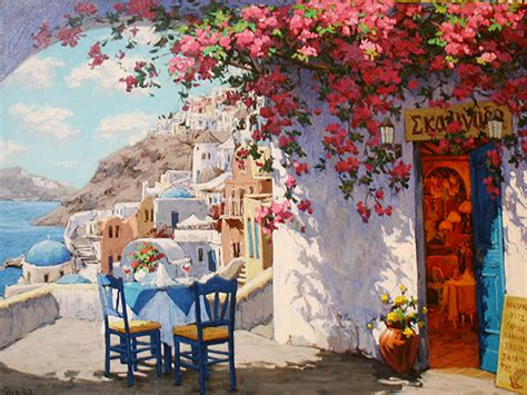 paint with a twist greece quot vibrant santorini quot greece viktor shvaiko arte