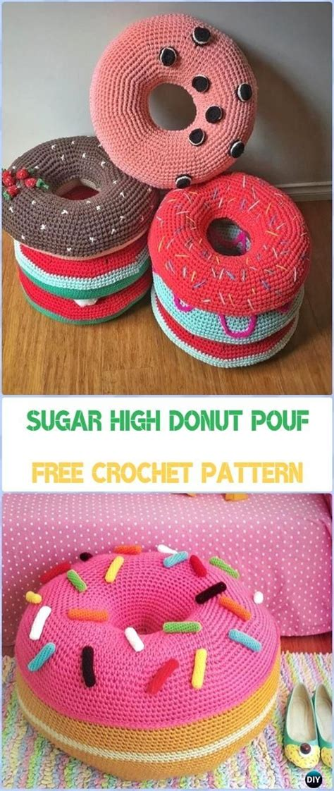 crochet pouf ottoman pattern free best 25 crochet furniture ideas on diy