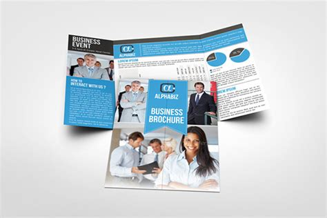 gate fold brochure template indesign business brochure gate fold template quot alphabiz quot on behance