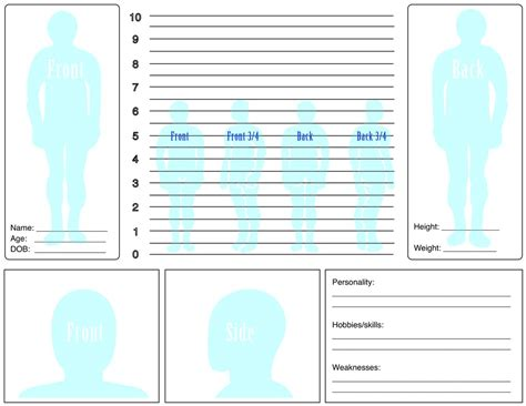character sheet profile template by frostfirezero on