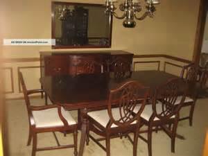 Bernhardt Dining Room Set 1930 S Duncan Phyfe 11 Piece Mahogany Dining Room Set