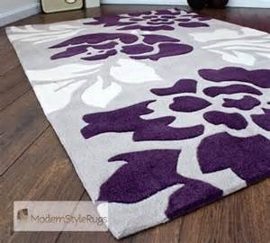 grey purple and cream modern new luxury rug 2 sizes