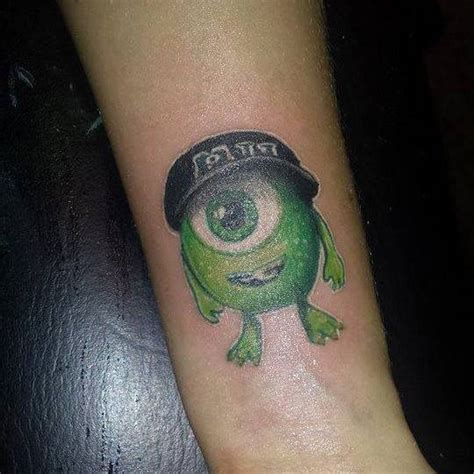monsters inc tattoo forearm of michael quot mike quot wazowski a character