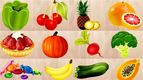 v s fruit and veg learning fruits and vegetables names for