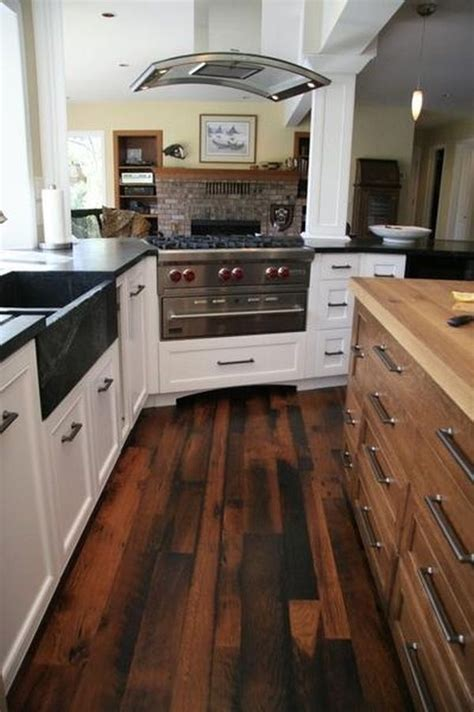 wood kitchen floors reclaimed wood flooring an eco friendly option that comes with many advantages
