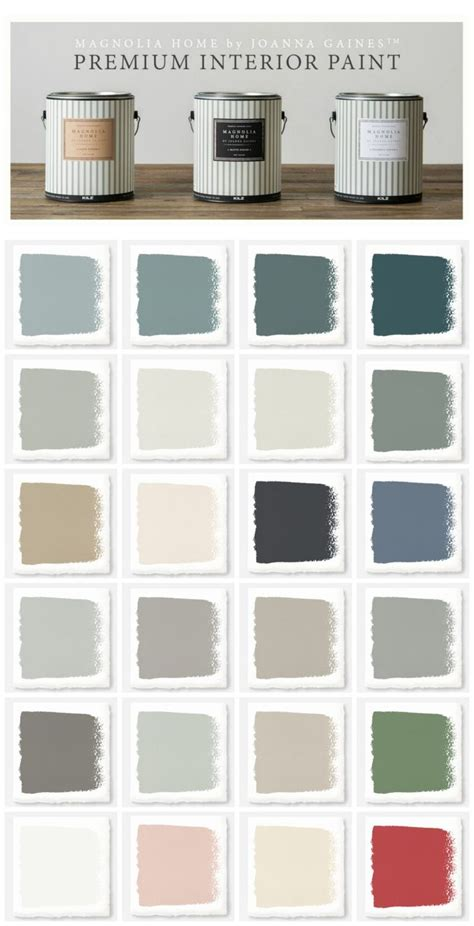 new magnolia home paint collection paint colors furniture and magnolia homes