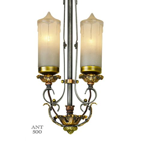 1920s Light Fixtures 1920s Deco Candle Style 2 Light Pendant Ceiling Fixture Ant 500 From Vintagehardware