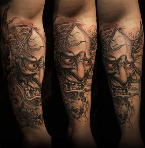 oriental tattoo forearm 29 best oni demon tattoo images on pinterest japanese