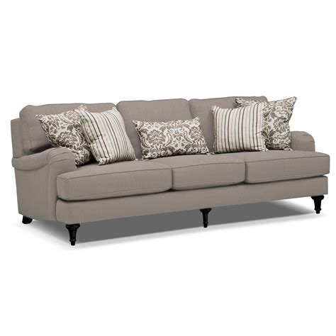 live on the couch candice sofa gray american signature furniture