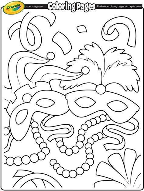 Mardi Gras Masks Coloring Page Crayola Com Mardi Gras Coloring Pages