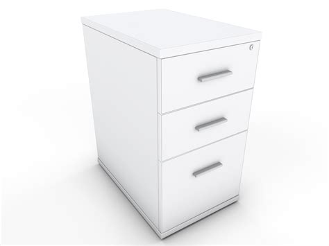 White Desk High Drawer Unit Icarus Office Furniture White Desk With Drawers