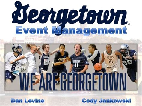Georgetown Sports Management Mba by College Sports Operations Event Management Georgetown