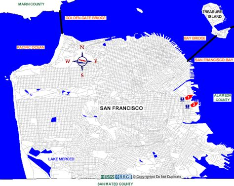 san francisco county map san francisco county boat rs map
