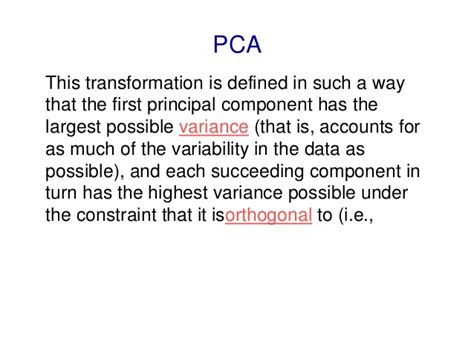 pattern recognition and machine learning pca pattern recognition and machine learning