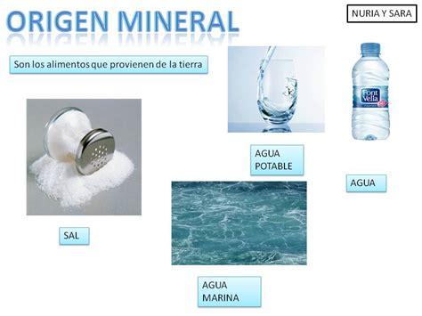origen de los alimentos mineral alimentos de origen mineral imagui