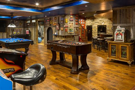 leawood lower level rustic basement kansas city