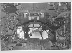 Bombardier Station in front and above is the front turrent ... B 24 Ball Turret