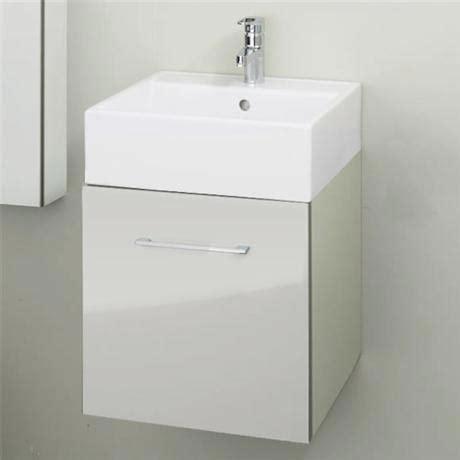 Rak Cabinet Home 129243 rak wall hung drawer cabinet with ceramic basin glossy white at plumbing uk