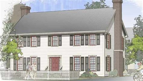 Classic Colonial Post And Beam Plan By Davis Frame Company Timber Frame Colonial House Plans