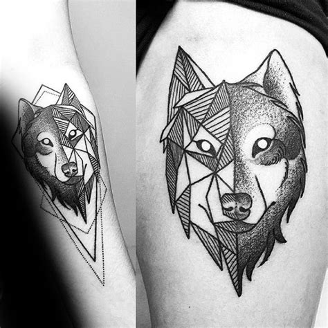 tattoo inspiration wolf 90 geometric wolf tattoo designs for men manly ink ideas