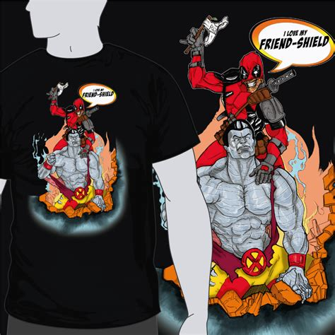 Kaos Deadpool 18 coloso y deadpool tak camisetasfrikis es