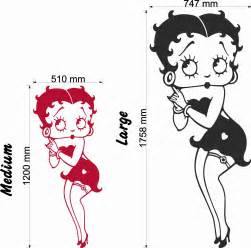 betty boop classic pose wall decal wall stickers amp decals betty boop star wall decal wall stickers amp decals
