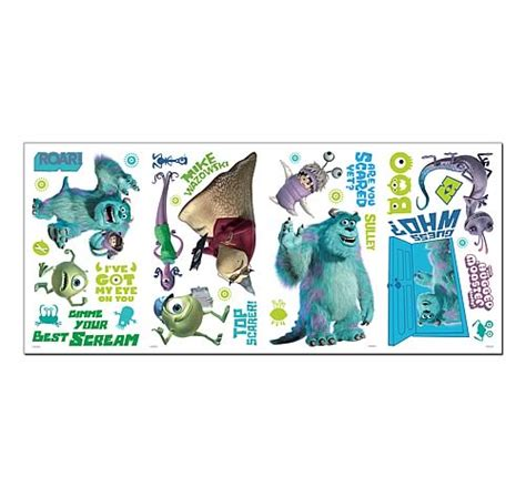 monsters inc wall stickers monsters inc peel and stick wall decals roommates