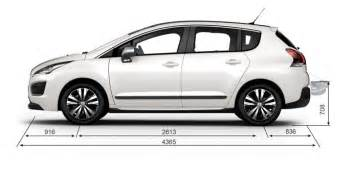 Peugeot 3008 Dimensions Informations Techniques Peugeot 3008 Crossover Monospace
