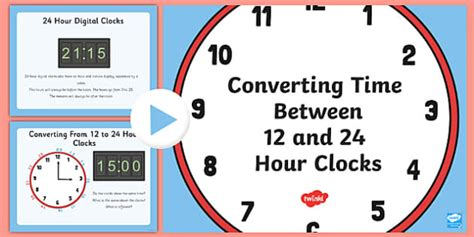 12 and 24 hour clock conversion 12 24 hour clock