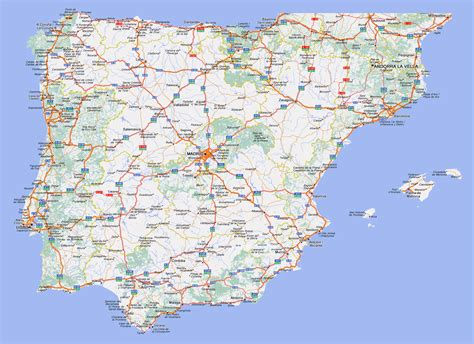 spain and portugal map large detailed highways map of spain and portugal with