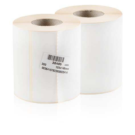 Etiketten Drucken 105 148 etikett 105 x 148 mm thermopapier wei 223 permanent 300
