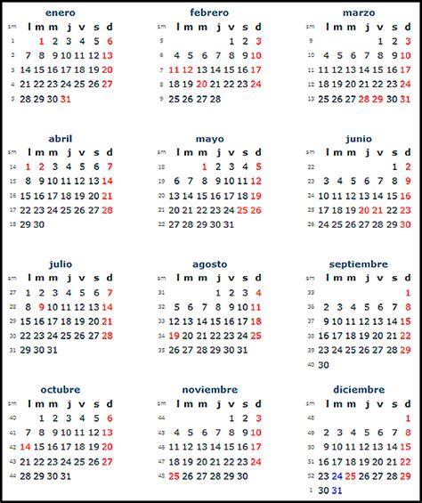 Calendã E Feriados 2014 Calendar By Week 2014 Calendar Template 2016
