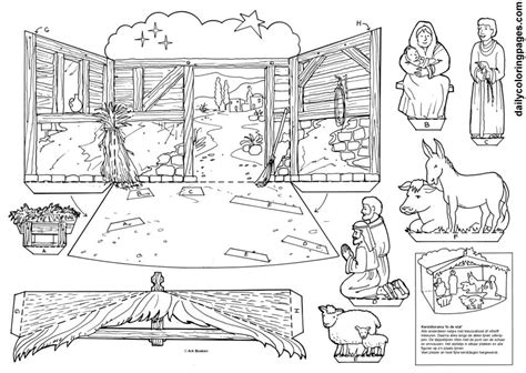 nativity diorama coloring pages nativity scene cutouts for coloring coloring pages