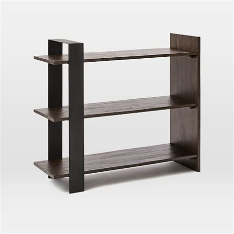 Low Bookshelf by Logan Industrial Bookshelf Low West Elm
