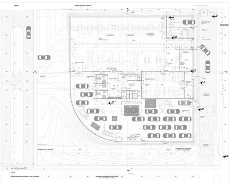 car service center floor plan gallery of ekris showroom onl 52