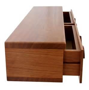 2 drawer floating shelf solid wood carved drawer
