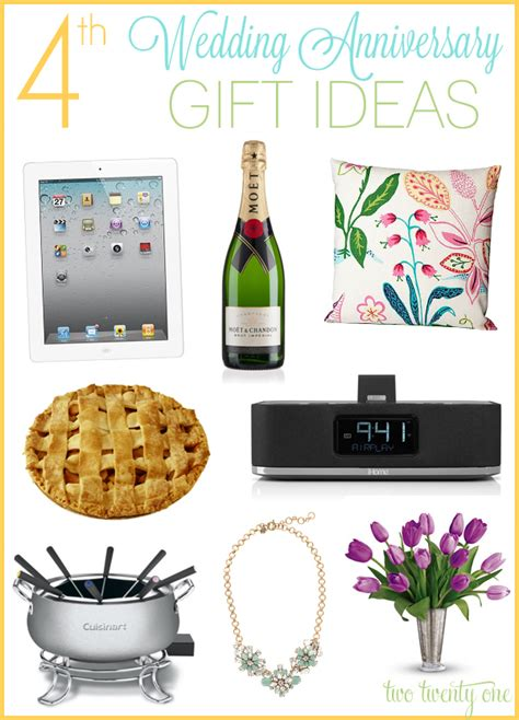 gift ideas for 4th anniversary gift ideas