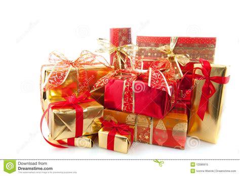 many christmas presents royalty free stock photo image