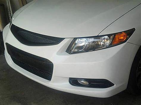 Front Sport Grille Honda New Civic front bumper mesh grill grille fits honda civic 12 13 2012 2013 coupe si type r grilles