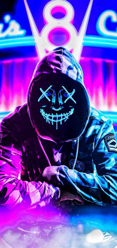 fondos de pantalla neon mask