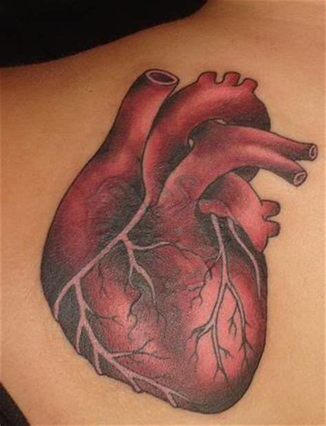realistic heart tattoos designs pictures images photos