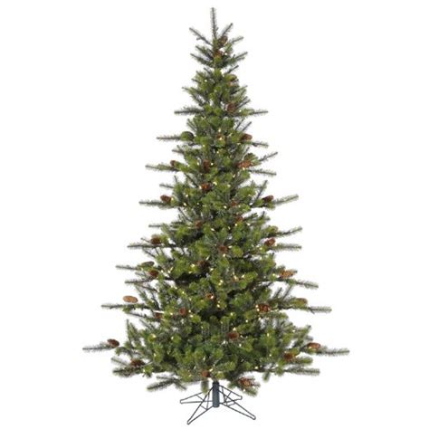 7 5 pre lit timbercrest spruce artificial christmas tree