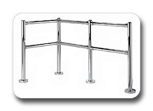 chrome banister rail asset protection railings bumpers rw rogers