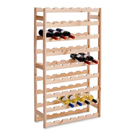hornbach flaschenregal houten wijnrek voor 54 flessen opbergspecialist