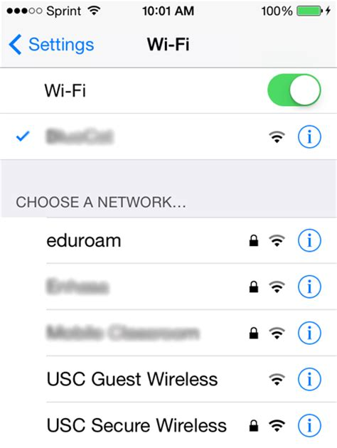 connecting to usc secure wireless using ios it services
