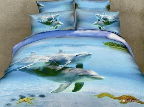 dolphin bed set 3d dolphin blue ocean comforter bedding sets queen size duvet cover bedspread sheets