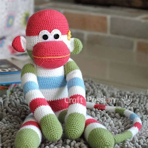 sock animals patterns free free sock monkey amigurumi crochet pattern wixxl
