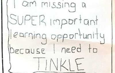 funny bathroom passes nothing to do with arbroath pupils told to use tinkle
